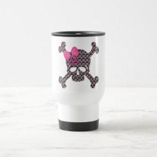 Flowery Skull Travel Mug