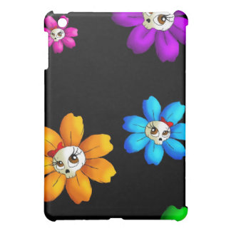 Flowery skulls case for the iPad mini
