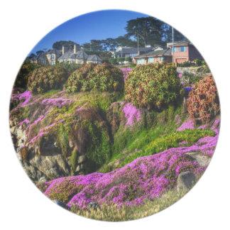 Flowery Slope Melamine Plate