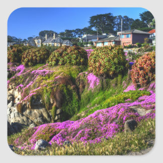 Flowery Slope Square Sticker