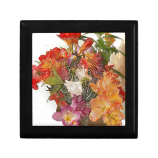 Flowery Springtime Bouquet of Freesias! Keepsake Box
