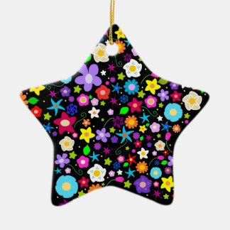 Flowery Star Ornament