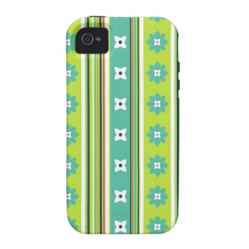 Flowery Stripe Green iPhone Case Vibe iPhone 4 Case