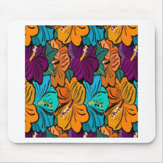 Flowery summer patterns design mouse pad