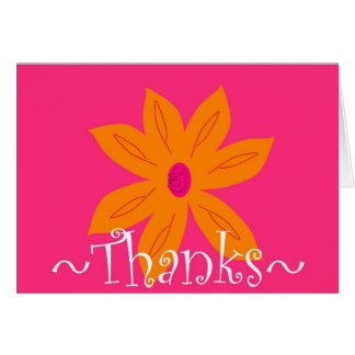 Flowery Thank You Greeting Cards