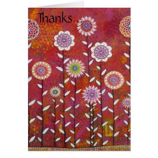 Flowery Thanks... Greeting Card