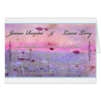 Flowery Wedding Invitation Greeting Card