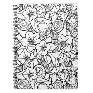 Flowery Zendoodle Notebook