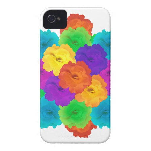 Flowes Collage Ornament iPhone 4 Covers