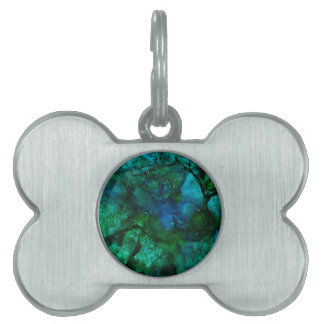 Flowing Abstract Design Pet ID Tag