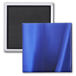Flowing Blue Silk Fabric Abstract 2 Inch Square Magnet