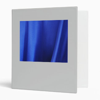 Flowing Blue Silk Fabric Abstract Binders