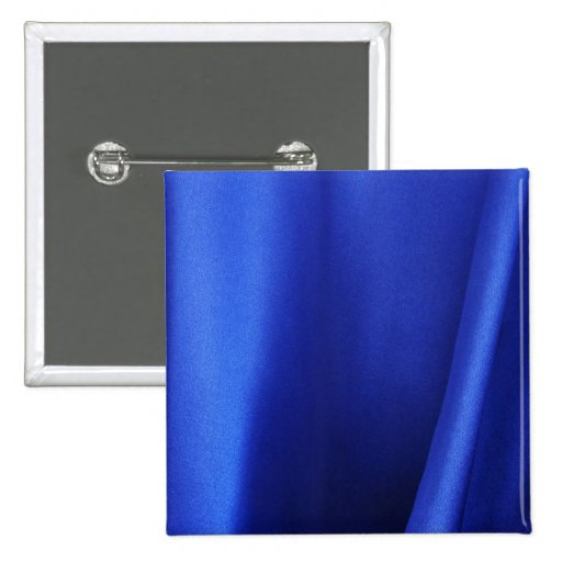 Flowing Blue Silk Fabric Abstract 2 Inch Square Button