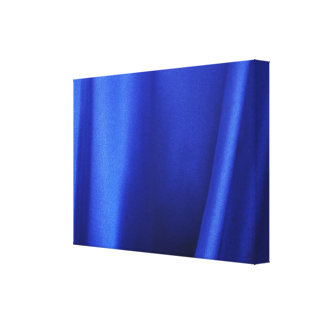 Flowing Blue Silk Fabric Abstract Canvas Print