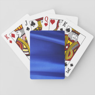 Flowing Blue Silk Fabric Abstract Card Deck