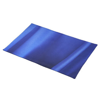 Flowing Blue Silk Fabric Abstract Cloth Placemat