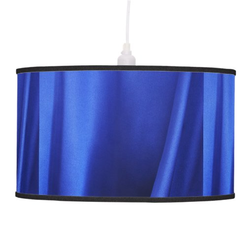 Flowing Blue Silk Fabric Abstract Hanging Lamp