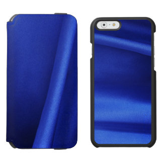 Flowing Blue Silk Fabric Abstract iPhone 6/6s Wallet Case