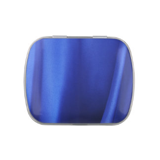 Flowing Blue Silk Fabric Abstract Jelly Belly Candy Tin
