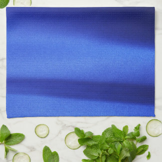Flowing Blue Silk Fabric Abstract Kitchen Towels