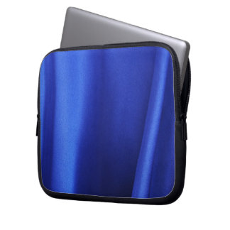 Flowing Blue Silk Fabric Abstract Laptop Computer Sleeves