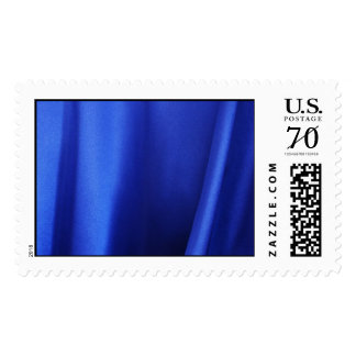 Flowing Blue Silk Fabric Abstract – Large Postage