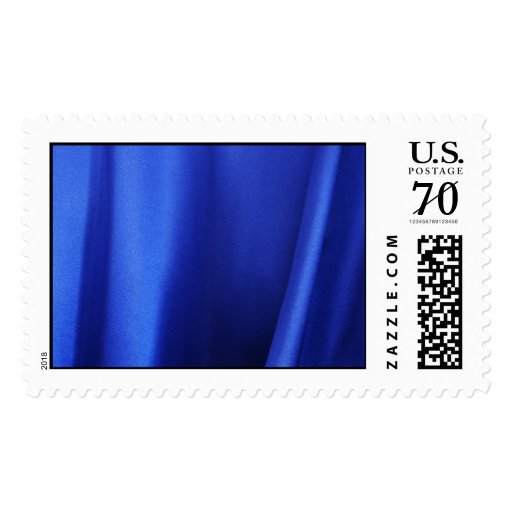 Flowing Blue Silk Fabric Abstract – Large Postage Stamp