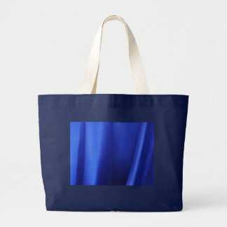 Flowing Blue Silk Fabric Abstract Large Tote Bag
