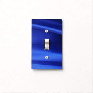 Flowing Blue Silk Fabric Abstract Light Switch Cover