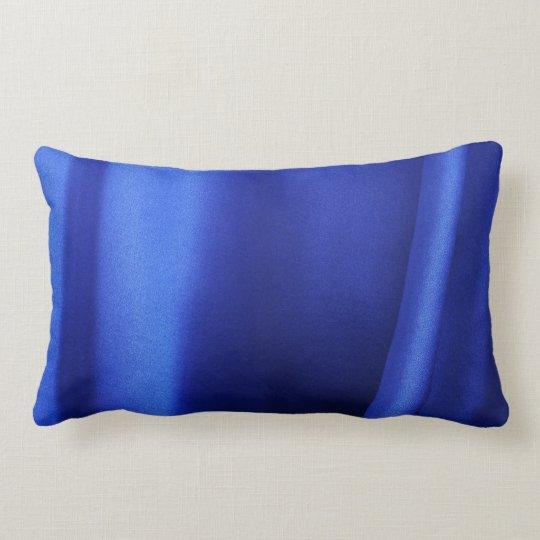 Flowing Blue Silk Fabric Abstract Lumbar Pillow