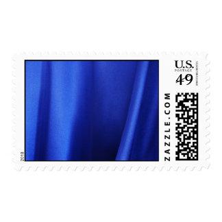 Flowing Blue Silk Fabric Abstract – Medium Postage