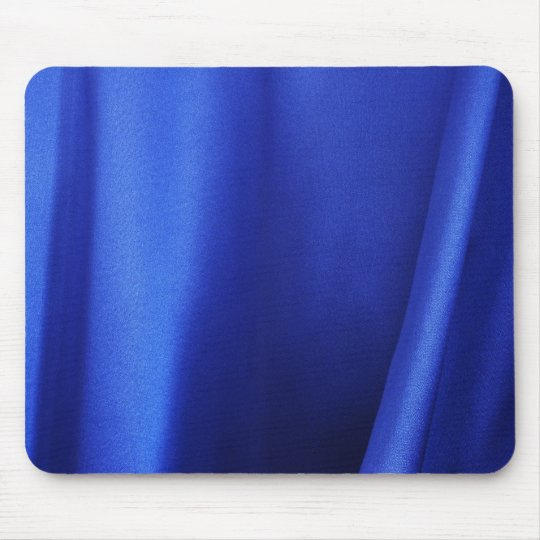 Flowing Blue Silk Fabric Abstract Mouse Pad
