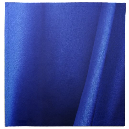 Flowing Blue Silk Fabric Abstract Napkin