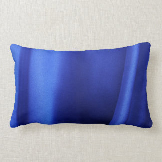 Flowing Blue Silk Fabric Abstract Pillow