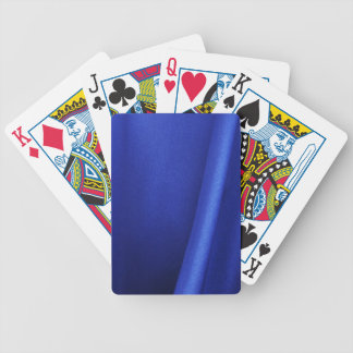 Flowing Blue Silk Fabric Abstract Deck Of Cards