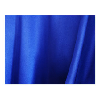 Flowing Blue Silk Fabric Abstract Postcard