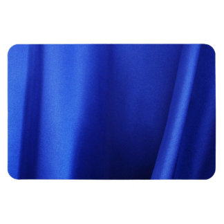 Flowing Blue Silk Fabric Abstract Rectangular Photo Magnet
