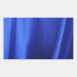 Flowing Blue Silk Fabric Abstract Rectangular Sticker