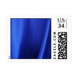 Flowing Blue Silk Fabric Abstract – Small Postage Stamp