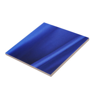 Flowing Blue Silk Fabric Abstract Small Square Tile