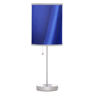 Flowing Blue Silk Fabric Abstract Table Lamps
