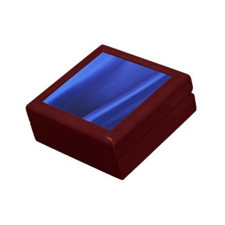 Flowing Blue Silk Fabric Abstract Trinket Boxes