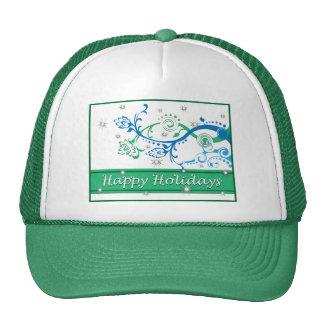 Flowing Blue Xmas Pine Mesh Hats