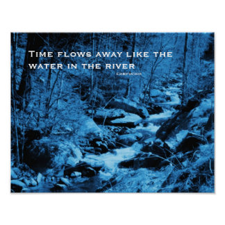Flowing Brook Inspirational Quote Poster