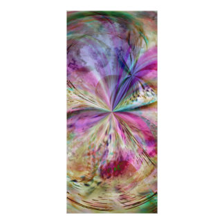 Flowing Color, Abstract Artwork Rack Card