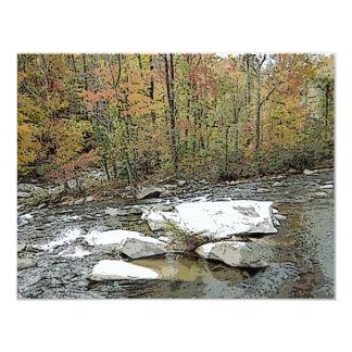 Flowing Creek in Woods Card