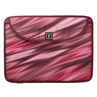 Flowing deep pink stripes sleeve for MacBook pro