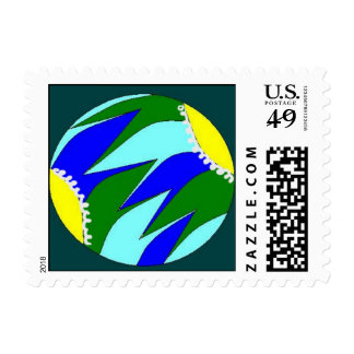 Flowing Earth Postage Stamps