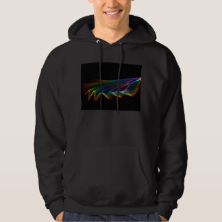 Flowing Fabric of Rainbow Light, Abstract Hoodie