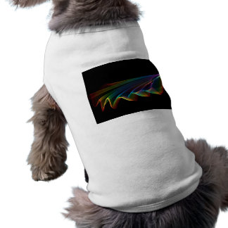 Flowing Fabric of Rainbow Light, Abstract Pet Clothes